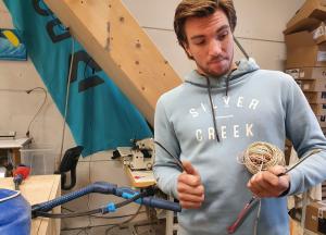 demonteer oude lijnen - kite lijnen reparatie