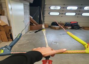 controleer lijn lengte- kite lijnen reparatie
